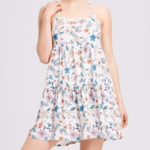 Women's Xhilaration Floral Nightgown Sleepwear Sleeveless Almond Cream S... - $3.55