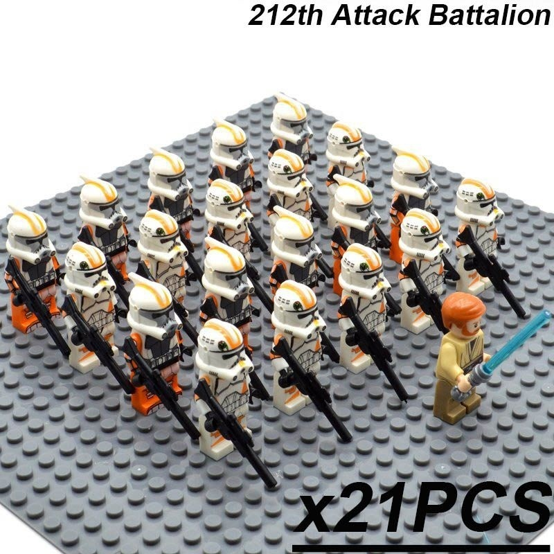 Primary image for 21pcs/set Obi-Wan Kenobi Leader the 212th Attack Battalion Star Wars Minifigures