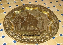 Decorative Hanging plate - Vintage brass wall plate-Wall Hanging Brass p... - $104.89