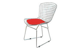 Chrome Steel Mid Century Modern Bertoia Style Chair (Free Shipping) - £82.50 GBP