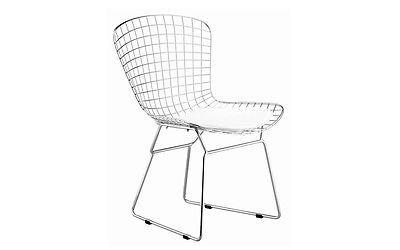 Chrome Steel Mid Century Modern Bertoia Style Chair (Free Shipping)