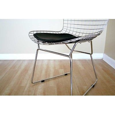 Chrome Steel Mid Century Modern Bertoia Style Chair (Free Shipping)