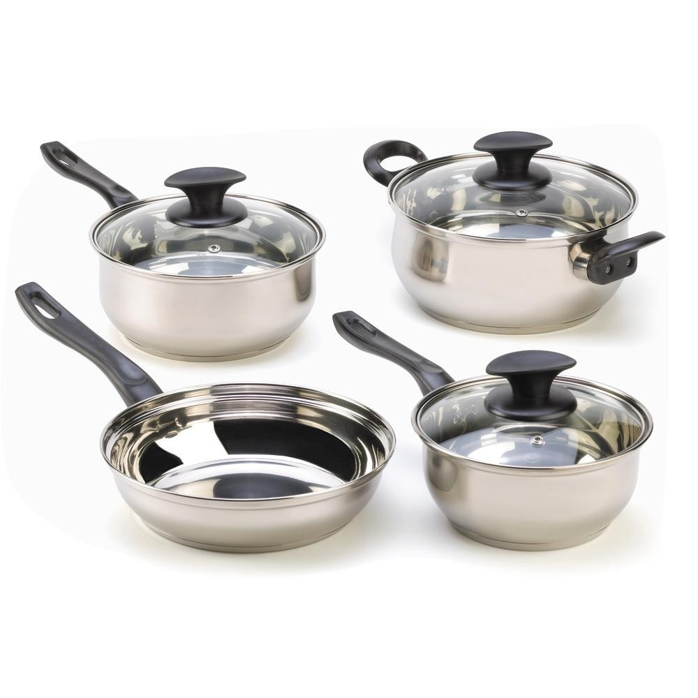 Toy Pots And Pans : Piece stainless steel cookware set