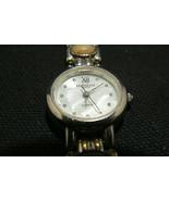 Vintage LA Express Quartz Silvertone Women's Stone Link Wrist Band Watch - $8.41