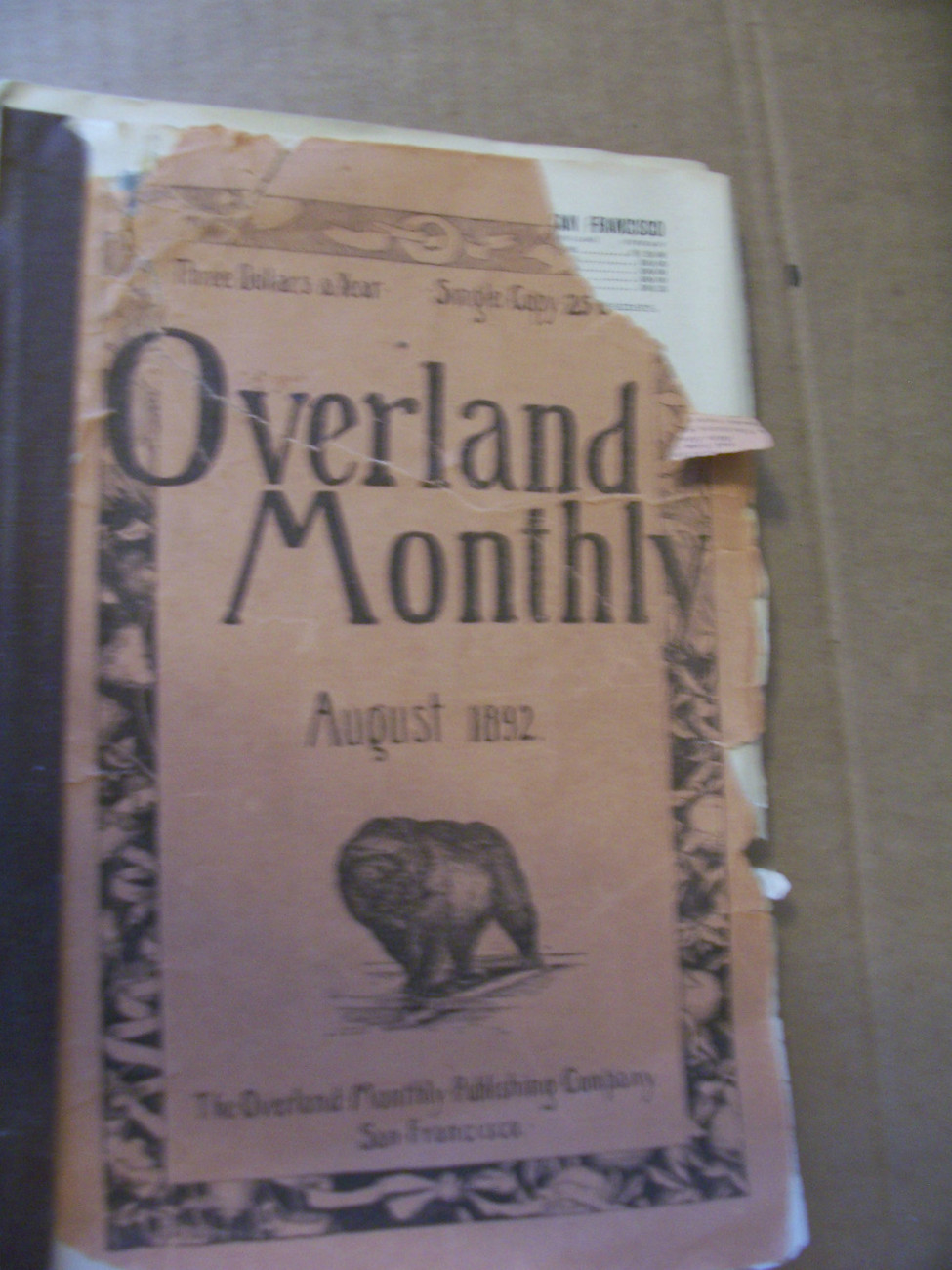 OVERLAND MONTHLY AUGUST 1892 STAGE MENDOCINO REDWOOD RODEO CANON REPEATING RIFLE
