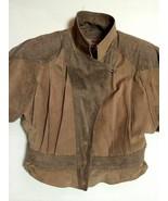 Byrnes and Baker Brown Suede Leather Snakeskin Bomber Jacket Insulated V... - $81.97
