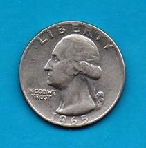 1965 Washington Quarter - Circulated Minimum Wear  - $1.25