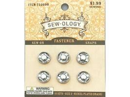 Hobby Lobby Sew-ology Sew-on Fastener Snaps, Size 2, 6 Sets #752600 image 1
