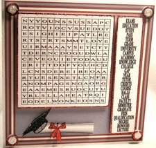 Handmade Greeting Card - Word Search Graduation Card - $10.95