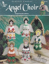 Angel Choir, Annie's Christmas Decor Plastic Canvas Pattern Booklet 871831 - $9.95