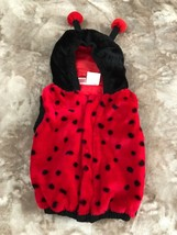 Lady Bug Costume Red And Black Halloween Size 12-24 Month - $9.85