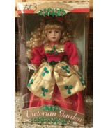 """Holly""1998 Holiday Limited Edition VICTORIAN GARDEN Porcelain Doll 17"" ... - $17.81"