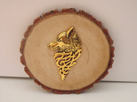 Wolf Medallion - Gold Colored - $7.00