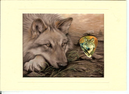Wolf Collecter's Plaque with Wolf Image Guitar ... - $7.00