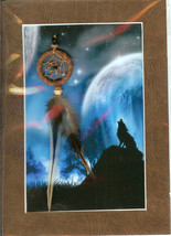 Dream Catcher with Fantasy wolf image - $7.00