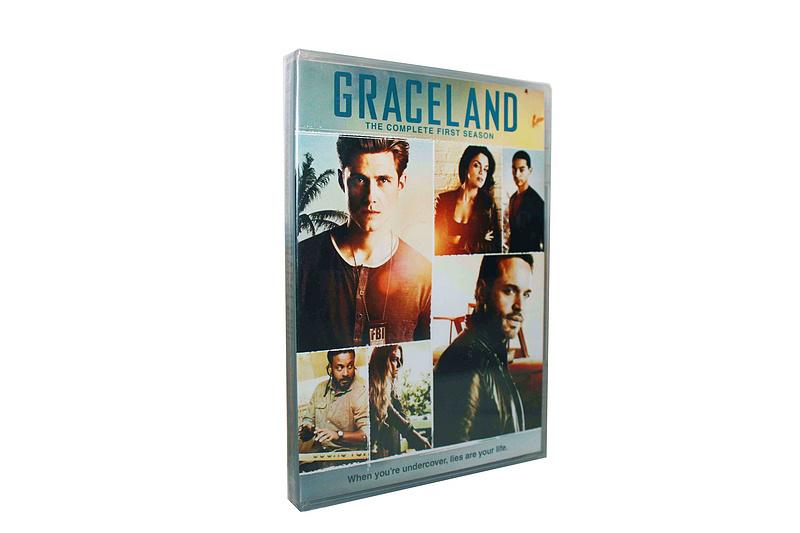 Graceland Season 1-3 DVD Box Set 9 Disc Free Shipping
