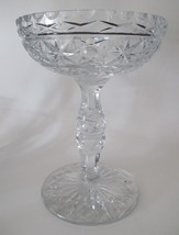 Large Hand Cut Glass compote crystal 8.5 lbs - $92.22