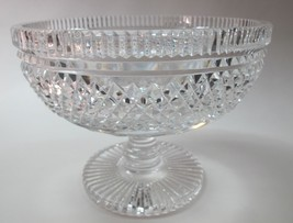 Signed Waterford pedestal bowl Hand cut in Ireland  - $92.22