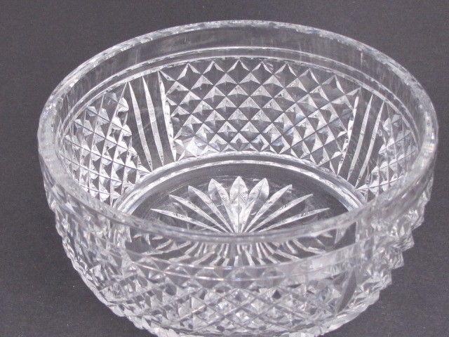Signed  Webb Corbett Hand Cut Glass  bowl english pedestal blown blank - $36.11