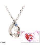 Disney × The Kiss Character Little Mermaid Ariel Pearl 925 Necklace Pendant - $162.36