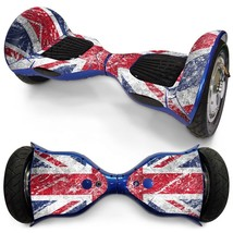Blurry UK Flag overboard hoverboard 10 inch decal skin - $30.00