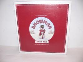 Williams Sonoma Snowman 3D Cake Pan Holiday Christmas Nordic Ware NEW - $342,07 MXN