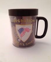 OPERATION DESERT STORM Thermo-Serv Insulated Plastic Coffee Mug Cup Mili... - $21.28