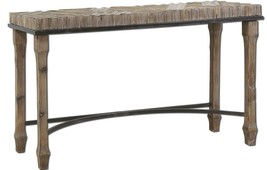"55"" long Console Table Black Iron Frame Reclaimed Old Wood Industrial / ... - $490.05"