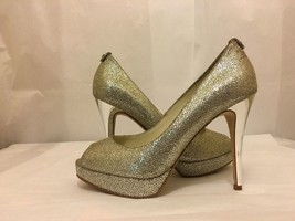Michael Kors York Platform Silver Glitter Women... - $71.28