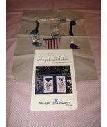 Angel Stitchin American Flowers Cross Stitch Pattern Fabric, Thread, & B... - $17.99