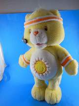 """Care Bears 2004 Yellow Funshine Bear Talking Talks Work Out15""""  Works Great - $17.32"""