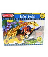 Melissa & Doug child safari social 24 pc kids child floor puzzle wild an... - $12.86