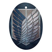 Oval Ornaments - Attack On Titan Anime Procelain Ornament (Oval) Christmas - $3.99