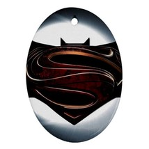 Oval Ornaments - Batman Vs Superman Procelain Ornament (Oval) Christmas - $3.99