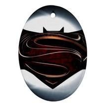 Oval Ornaments - Batman Vs Superman Procelain Ornament (Oval) Christmas - $3.99