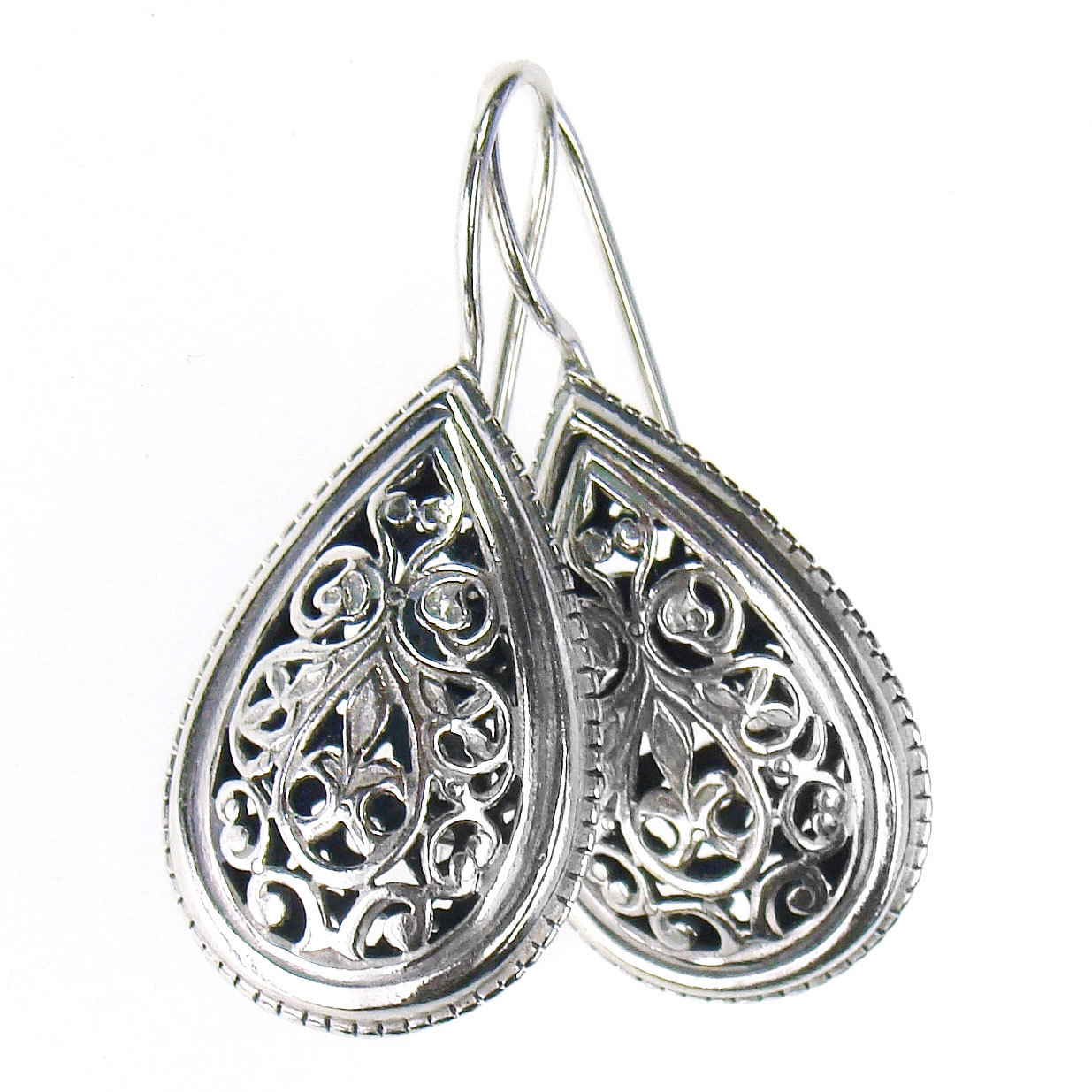 Primary image for Gerochristo 1385 - Sterling Silver -  Medieval Byzantine Filigree Earrings