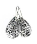 Gerochristo 1385 - Sterling Silver -  Medieval Byzantine Filigree Earrings  - $130.00