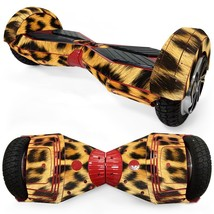 Leopard Wool overboard hoverboard 8 inch decal skin - $25.00