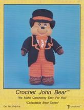 John Bear, Td Creations Crochet Toy Doll Pattern Booklet PHB-716 OOP HTF - $5.95