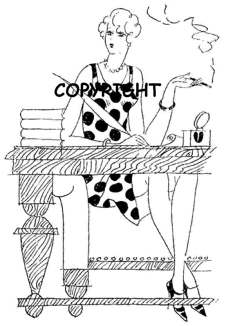 WOMANLY ADVICE FROM CATALLA mounted rubber stamp