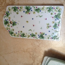 decorative floral trivet with hole for easy hanging on wall - $24.99