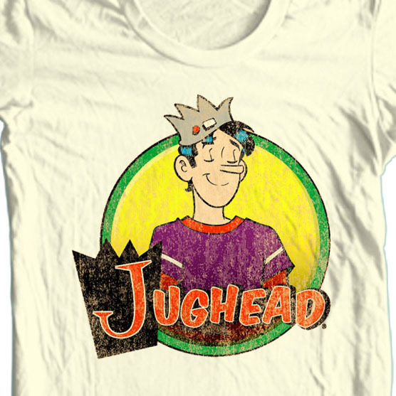 Archie comics jughead retro t shirt tan retro comic book tee