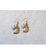 Handcrafted Pierced Earrings With Vintage Angels  - $6.00