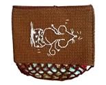 Crochet Money Case Button Purse Pouch Tissue Case Handmade Gift under $25 - $12.99