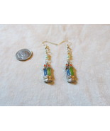 Handcrafted Pierced Earrings With Birthday Candles, Mini Heard and Green... - $5.50