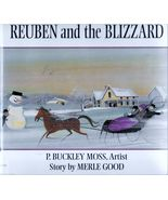 Reuben and the Blizzard Amish Family P. Buckley Moss Hardcover - $3.59