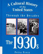 1930s A Cultural History of the United States Great Depression - $2.25