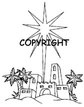 CIJS LITTLE TOWN OF BETHLEHEM NEW mounted rubber stamp - $6.00