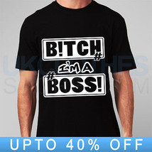 B!Tch Im Boss Kings Trapstar 40 Oz Obey Wasted Youth Rap Comme Des Rap  T Shirt - $14.99