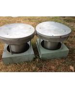 VINTAGE pair Metal Barn Roof Wind Ventilator Ai... - $75.00